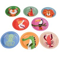 Rex Paper Plates (Colourful Creatures, 8 Pack)