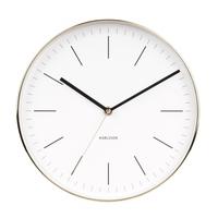 Karlsson Wall Clock - Minimal (Gold/White)