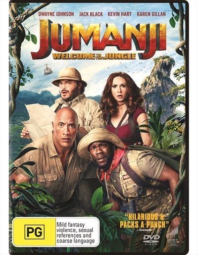 Jumanji: Welcome to the Jungle on DVD