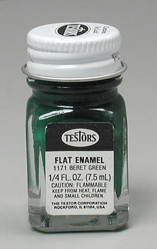 Testors: Enamel Paint - Flat Beret Green