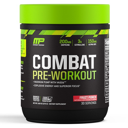 MusclePharm Combat Pre-Workout - Fruit Punch (30 Serves)