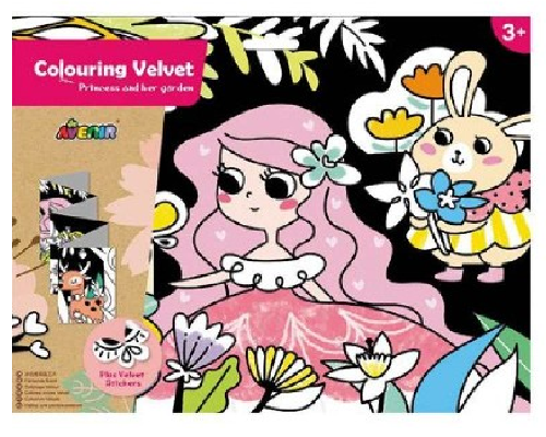 Avenir: Colouring Velvet Kit - Princess & Her Garden