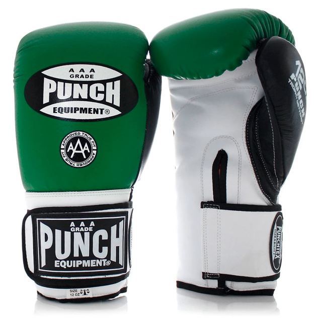 Punch Equipment: Trophy Getters Gloves - Green/Black/White (16OZ)
