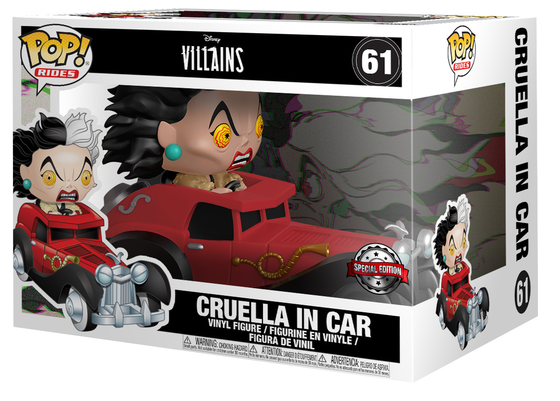 Cruella De Vil In Car Pop Ride At Mighty Ape Nz
