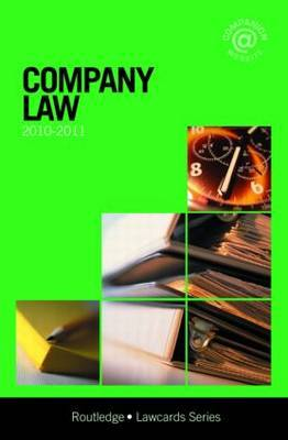 Company Lawcards: 2010-2011 by Routledge Chapman Hall image