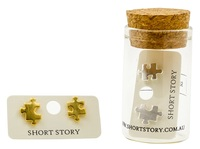 Short Story: Funky Play Earrings - Silver Jigsaw