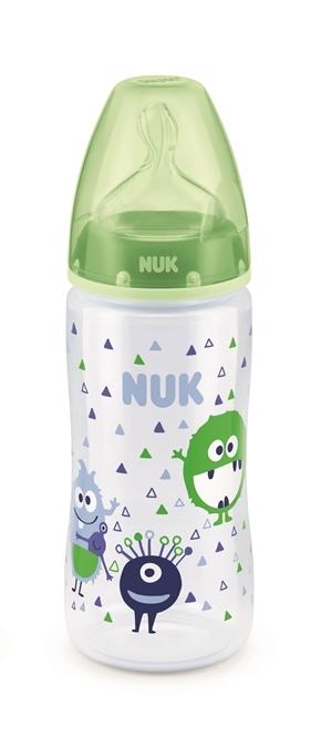 NUK: First Choice - Polypropylene Bottle (300ml) - Green Monsters