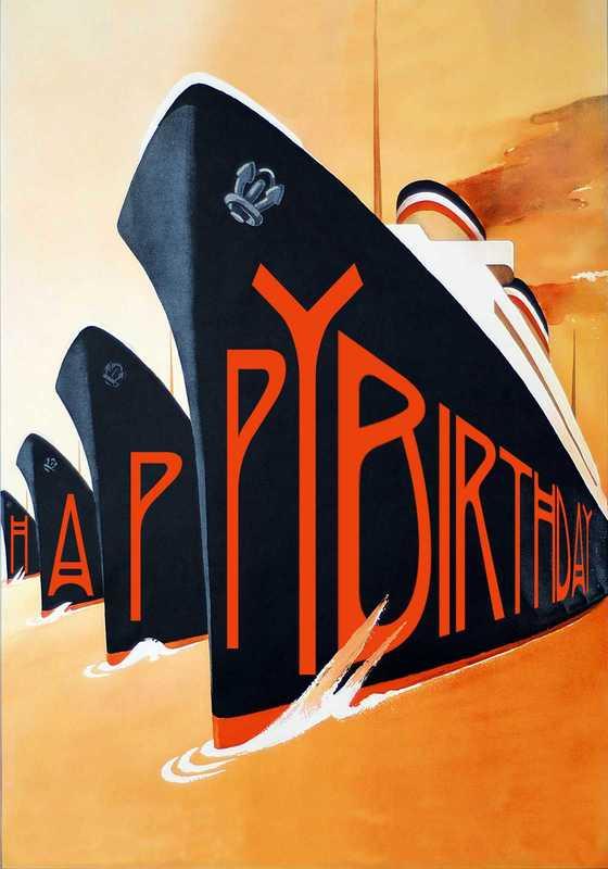 Madam Treacle: Four Ships Birthday Card