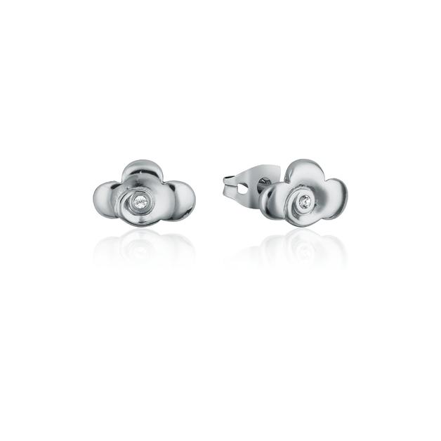Couture Kingdom: Disney Mulan Warrior Symbol Stud Earrings White Gold