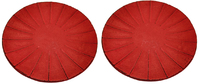 Teaology: Cast Iron Coasters - Ribbed Red/Black (Set of 2) image