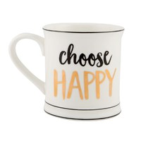 Metallic Monochrome Mug (Choose Happy)