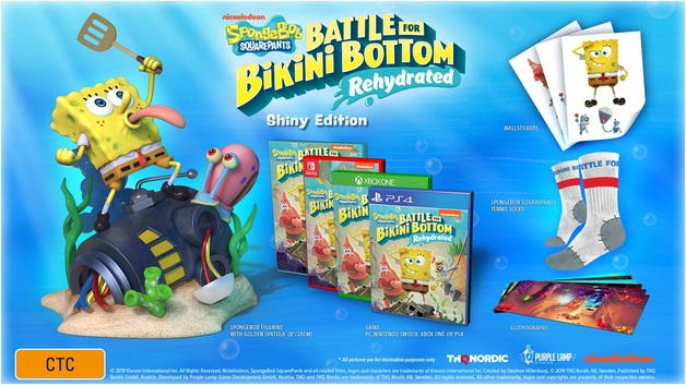 SpongeBob Squarepants: Battle for Bikini Bottom Rehydrated Shiny Edition for PS4