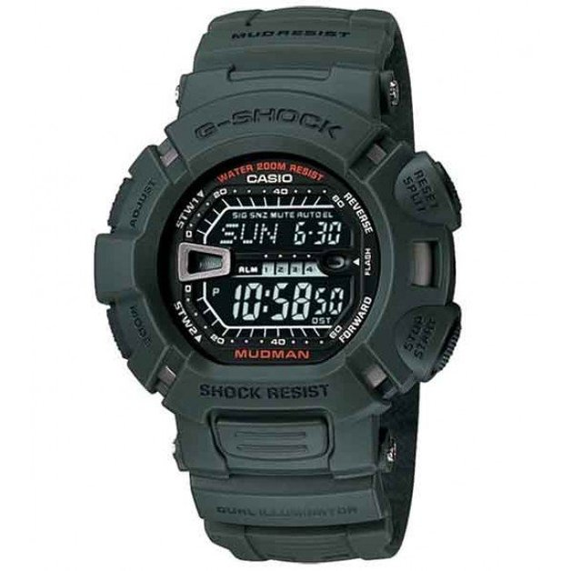 Casio G-Shock Digital MUDMAN Mens Green Watch G-9000-3V
