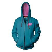 Overwatch Ultimate Zarya Zip-Up Hoodie (XX-Large)