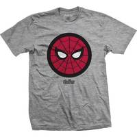Avengers Infinity War Spidey Icon Pop Mens Grey TS: Large