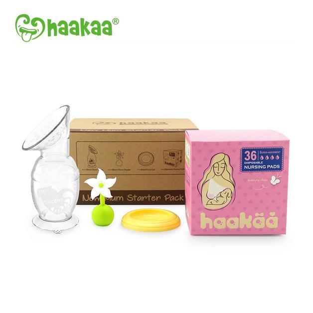 Haakaa: New Mum Starter Pack with 150ml Breast Pump