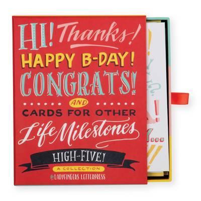 Ladyfingers Letterpress: Greeting Card Assortment - High Five