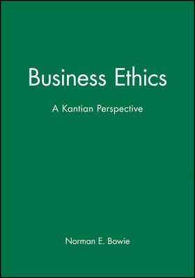 Business Ethics by Norman E. Bowie image