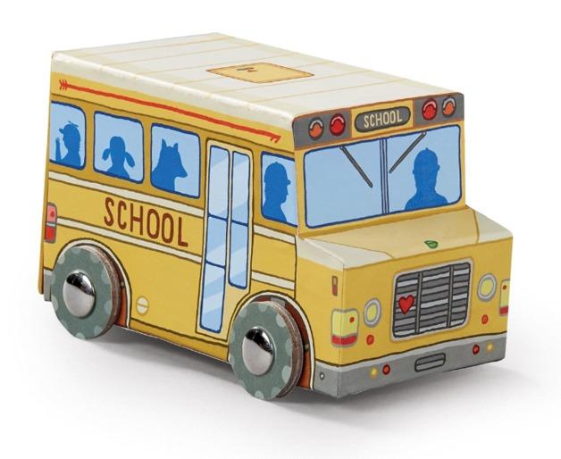 Crocodile Creek: Vehicle Shaped Puzzle - Mini School Bus