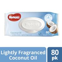 Huggies Baby Wipes - Coconut (80 Wipes) image