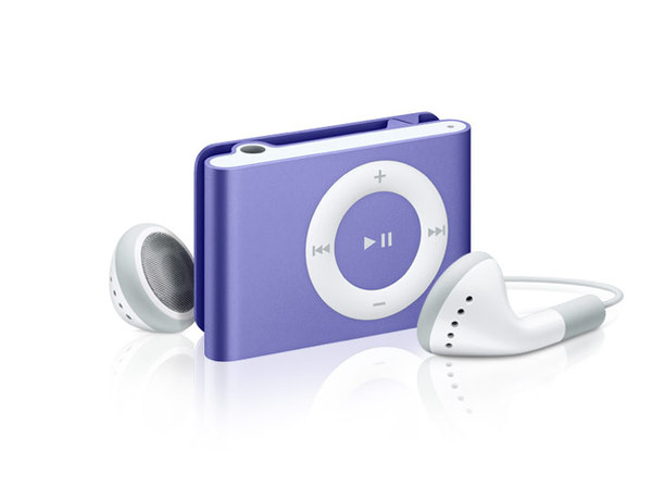 Apple - iPod shuffle 1GB - 3rd Gen - Purple image