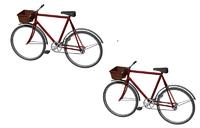 Bicycles x 2 - 00 Gauge