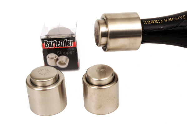 Stainless Steel Champagne Stopper - Satin