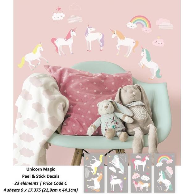 Room Mates: Unicorn Magic Peel and Stick Wall Decals - 4 Sheets
