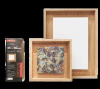 Jasart: Framed Floating Canvas Panel (20x20cm)