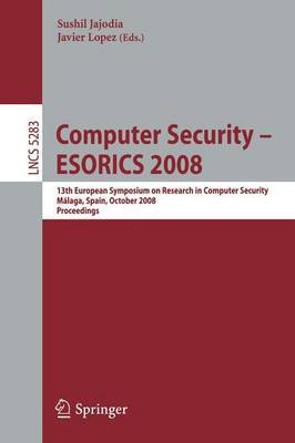 Computer Security - ESORICS 2008 image