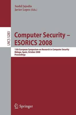 Computer Security - ESORICS 2008 image