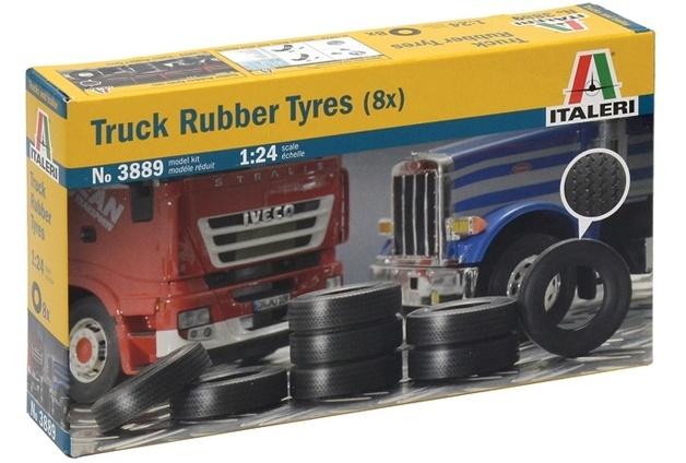Italeri: 1:24 Rubber Truck Tires (8 Pcs)
