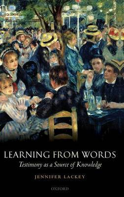 Learning from Words by Jennifer Lackey image