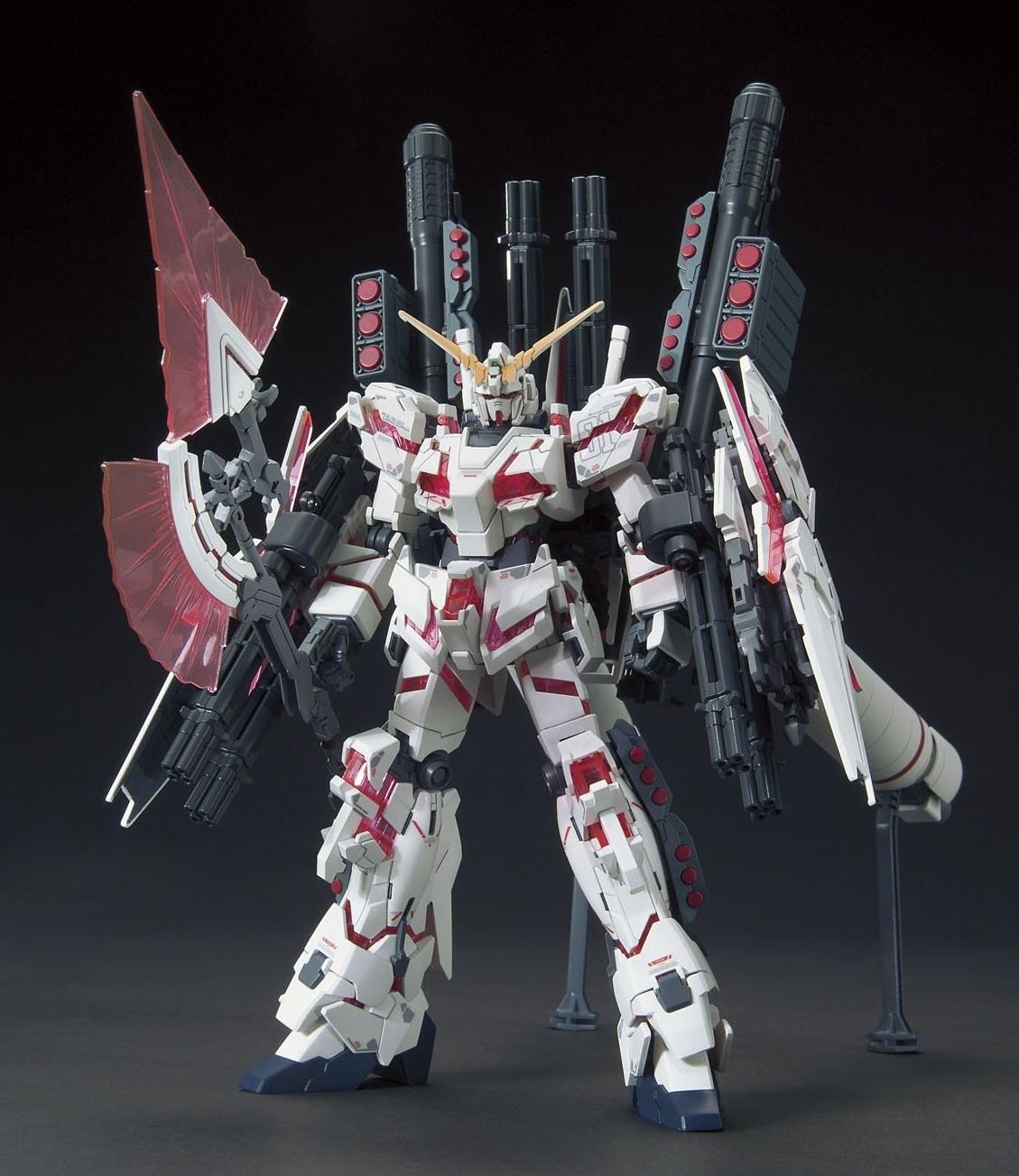 1/144 HGUC: Full Armor Unicorn Gundam (Red Destroy Mode) - Model Kit image