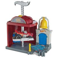 Hot Wheels: Downtown City - Fire Station Spinout Playset