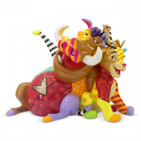 Romero Britto: Lion King Figurine (Medium)