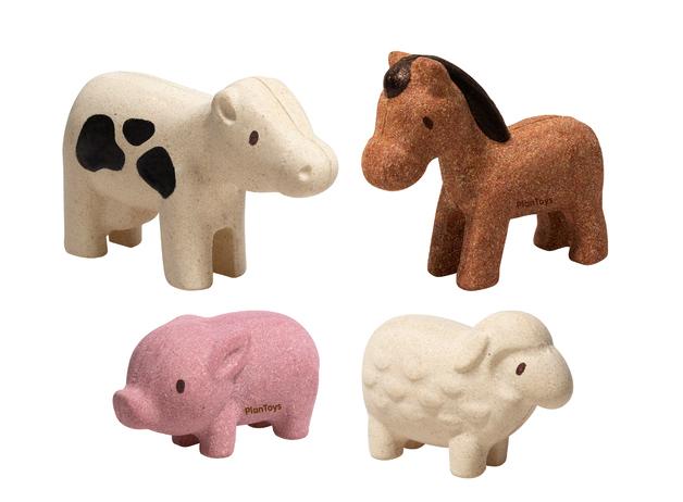 PlanToys - Farm Animals Set