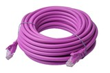8ware: Cat 6a UTP Ethernet Cable Snagless - 10m (Purple)