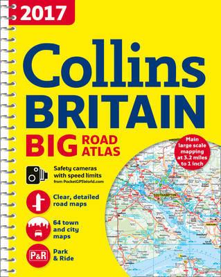 2017 Collins Big Road Atlas Britain by Collins Maps image