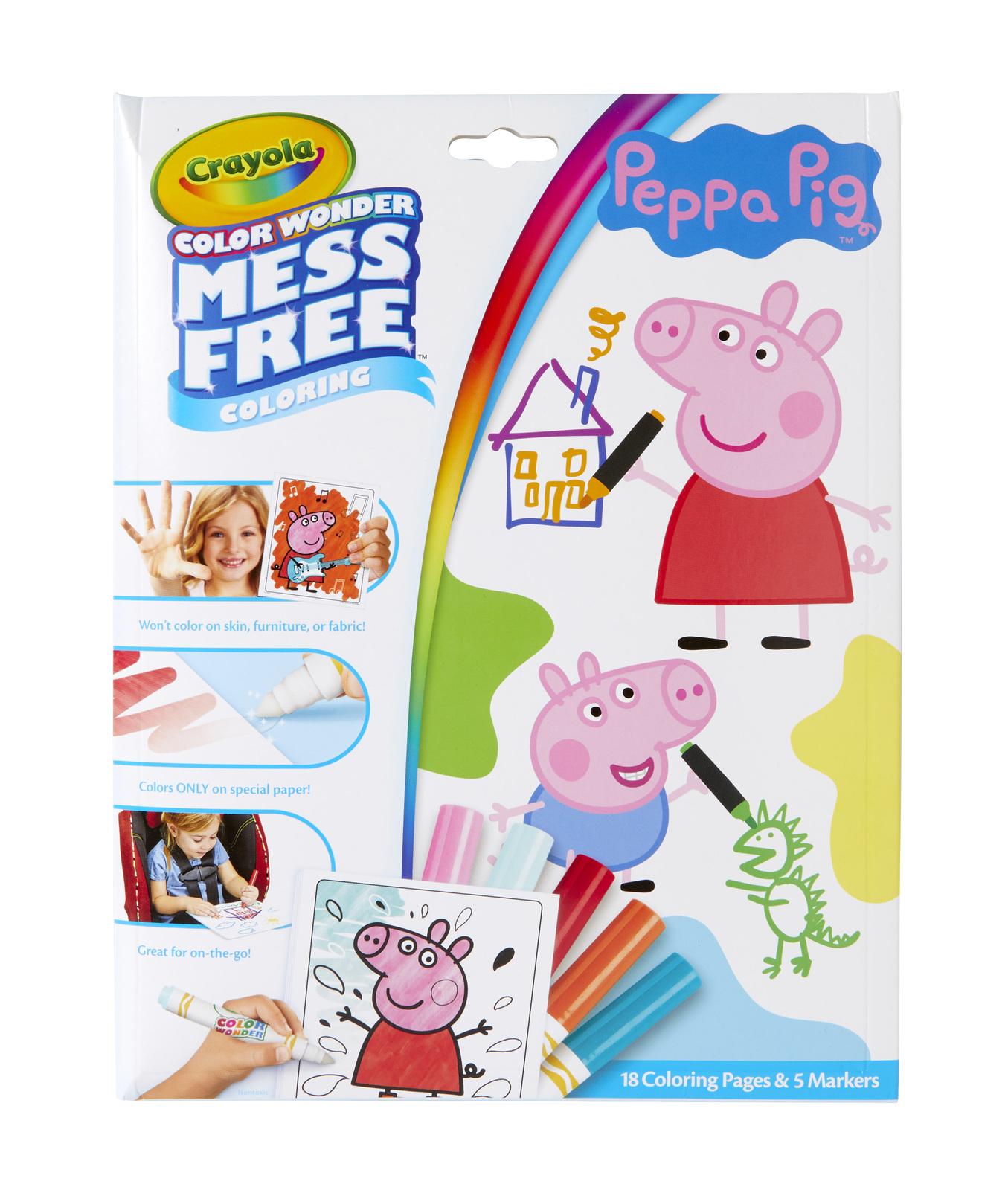 Crayola: Colour Wonder Colouring Set - Peppa Pig image