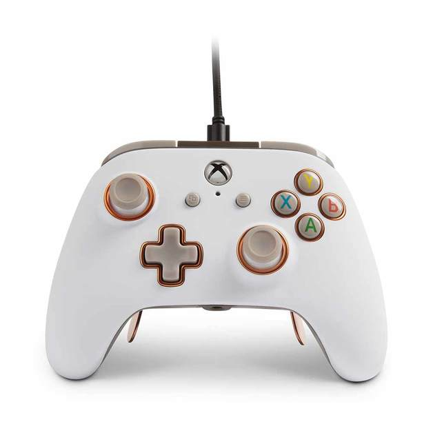 PowerA Fusion Pro Wired Controller for Xbox One - White for Xbox One
