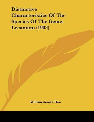 Distinctive Characteristics of the Species of the Genus Lecanium (1903) by William Crooks Thro image