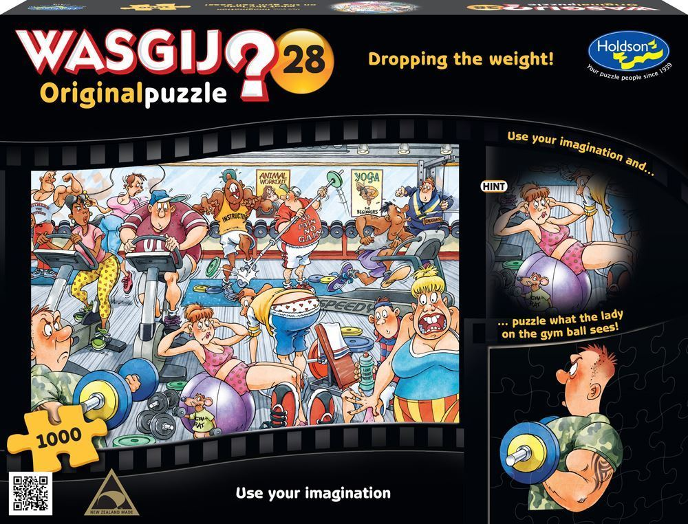 Wasgij: 1000 Piece Puzzle - Originals #28 (Dropping the Weight) image
