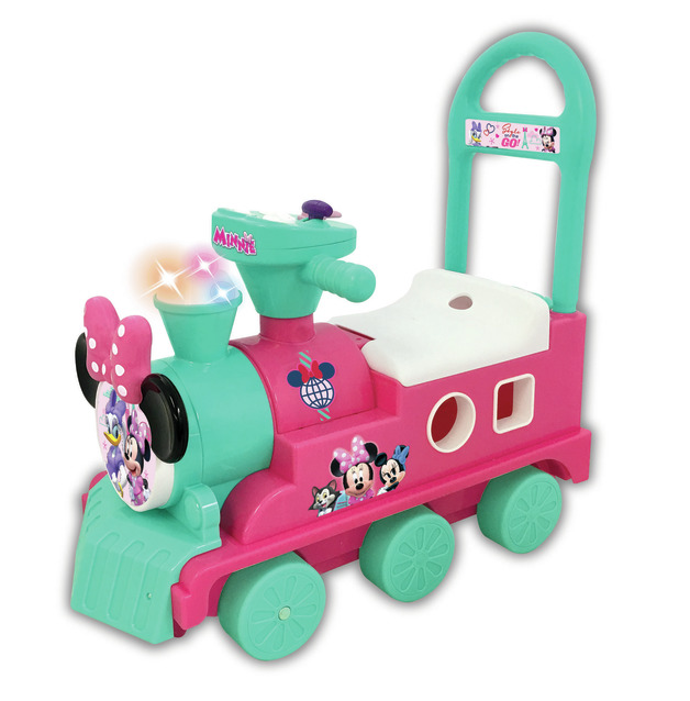 Kiddieland: Play & Sort Train Activity Ride-On - Minnie Mouse