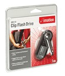Imation USB 2.0 Clip Flash Drive 2Gb Black (Drive is encased in a rubber shell)