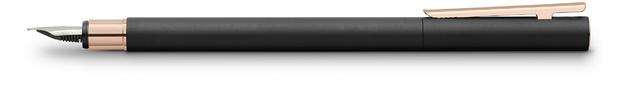 Faber-Castell: Neo Slim Fountain Pen - Matt Black/Rose Gold (Medium Nib)