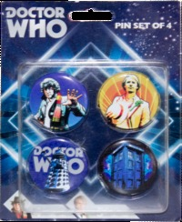 Doctor Who - Classic Retro Pin Set of 4