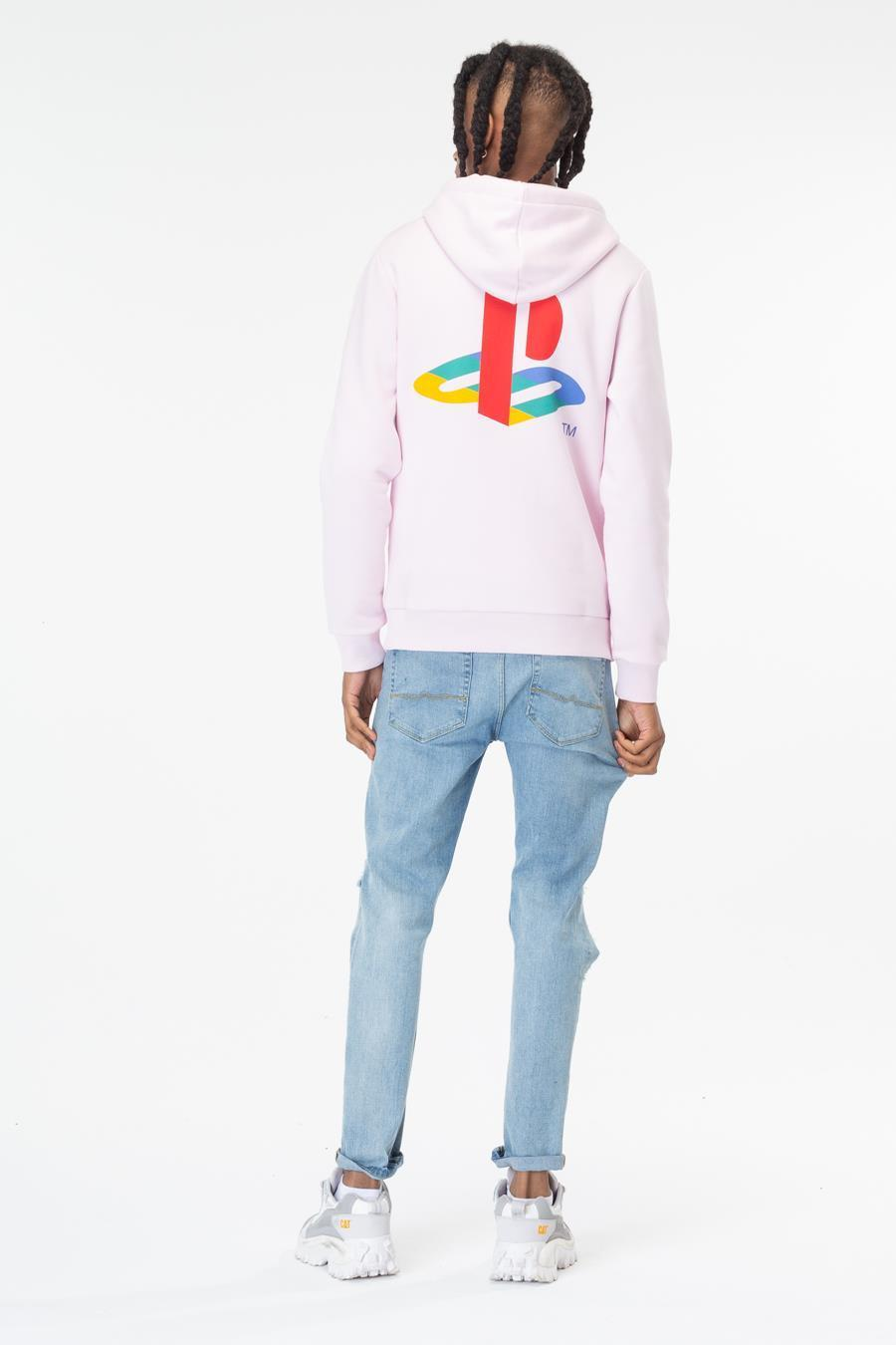 Just Hype: PlayStation Pink Crest Mens Pullover Hoodie - Small image