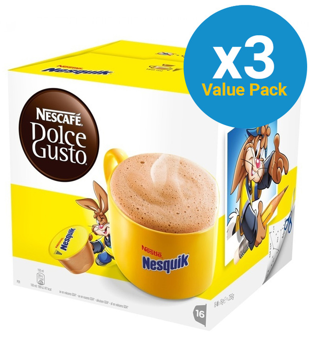 Nescafe: Dolce Gusto - Nesquik Capsules (3 x 16-Pack)