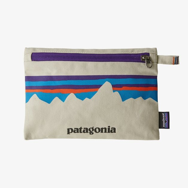Patagonia Zippered Pouch - P-6 Fitz Roy: Bleached Stone